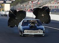 Mar 16, 2014; Gainesville, FL, USA; NHRA pro mod driver Steven Whiteley during the Gatornationals at Gainesville Raceway Mandatory Credit: Mark J. Rebilas-USA TODAY Sports