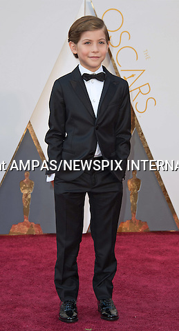 28.02.2016; Hollywood, California: 88th OSCARS - JACOB TREMBLAY<br /> attend the 88th Annual Academy Awards at the Dolby Theatre&reg; at Hollywood &amp; Highland Center&reg;, Los Angeles.<br /> Mandatory Photo Credit: &copy;Ampas/Newspix International<br /> <br /> PHOTO CREDIT MANDATORY!!: NEWSPIX INTERNATIONAL(Failure to credit will incur a surcharge of 100% of reproduction fees)<br /> <br /> IMMEDIATE CONFIRMATION OF USAGE REQUIRED:<br /> Newspix International, 31 Chinnery Hill, Bishop's Stortford, ENGLAND CM23 3PS<br /> Tel:+441279 324672  ; Fax: +441279656877<br /> Mobile:  0777568 1153<br /> e-mail: info@newspixinternational.co.uk<br /> All Fees To: Newspix International