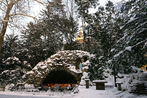 Grotto in winter.<br />