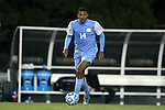 21 November 2013: North Carolina's Omar Holness (JAM). The University of North Carolina Tar Heels hosted the University of South Florida Bulls at Fetzer Field in Chapel Hill, NC in a 2013 NCAA Division I Men's Soccer Tournament First Round match. North Carolina won the game 1-0.