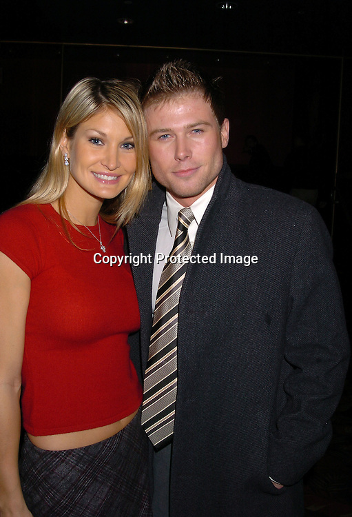 Julie Costello and Jacob Young..at the All My Children Christmas party at the Copacabana  on December 17, 2003. Photo by Robin Platzer, Twin Images.