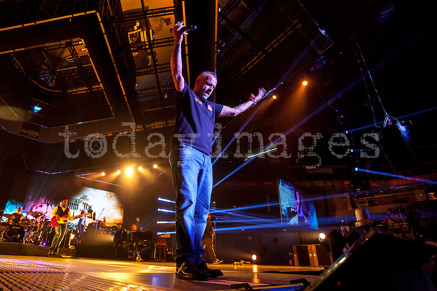 Eros Ramazzotti performing  at Palacio de los deportes in Madrid
