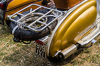 Lambretta Scooter at the Annual Isle of Wight Scooter Rally, Britain - Aug 2013