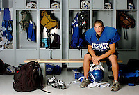09/14/06--TAMPA--Jesuit High School senior Kevin Valenti is running back for the varsity football team. Photo by Julie Busch/staff