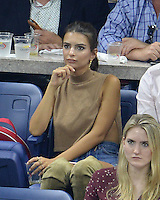 FLUSHING NY- SEPTEMBER 08: Emily Ratajkowski is seen watching Serena Williams Vs Karolina Pliskova on Arthur Ashe Stadium at the USTA Billie Jean King National Tennis Center on September 8, 2016 in Flushing Queens. Credit: mpi04/MediaPunch