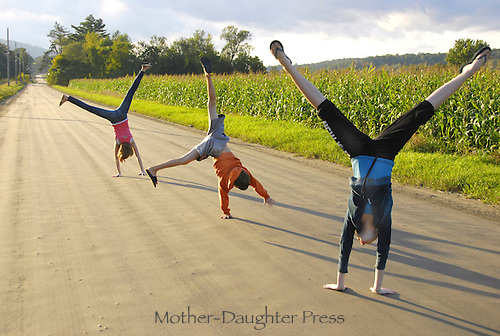 Summer day in rural Vermont and three kids turning cartwheels-- its just that good.