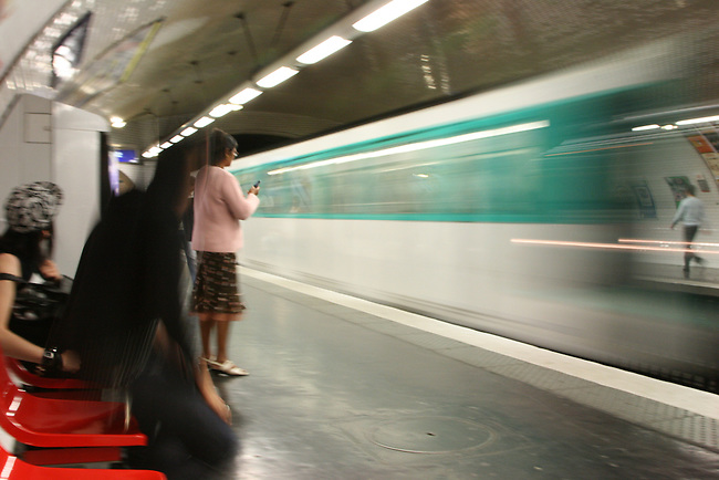 Waiting for the Metro. Paris, France. July 26, 2007.