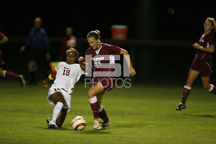 28 October 2005: Martha West during Stanford's 1-0 loss to USC at Maloney Field in Stanford, CA.