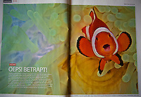 Double spread image in the dutch diving magazine DUIKEN.