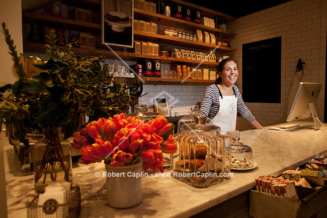 Alison Schneiderm owner of Haven's Kitchen in New York City...Photo by Robert Caplin.