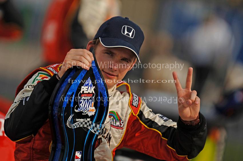 11 September, 2005, Joliet,IL,USA<br /> Winner Dan Wheldon in Victory Lane.<br /> Copyright&copy;F.Peirce Williams 2005