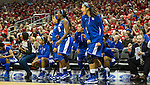 UK's bench erupts after drawing an offensive charging call at the opposite end of the court, and returning the ball to UK's possession in a tense second half battle against the Louisville Cardinals Sunday evening. in Louisville, Ky., on Sunday, December, 2, 2012. Photo by James Holt | Staff