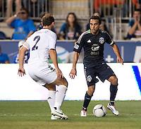 Dwayne De Rosario, Branislav Ivanovic.  The MLS All-Stars defeated Chelsea, 3-2.