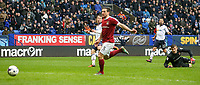 Northampton Town's goalkeeper Adam Smith pushes Bolton Wanderers' Adam Le Fondre's shot wide<br /> <br /> Photographer Alex Dodd/CameraSport<br /> <br /> The EFL Sky Bet League One - Bolton Wanderers v Northampton Town - Saturday 18th March 2017 - Macron Stadium - Bolton<br /> <br /> World Copyright &copy; 2017 CameraSport. All rights reserved. 43 Linden Ave. Countesthorpe. Leicester. England. LE8 5PG - Tel: +44 (0) 116 277 4147 - admin@camerasport.com - www.camerasport.com