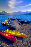 Aquatic recreation at Lake McDonald, Glacier National Park, Montana