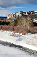 Sunlight Creek in Shoshone National Forest Wyoming during winter