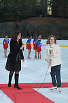 Soledad O'Brien & Sharon Cohen at the 2012 Skating with the Stars - a benefit gala for Figure Skating in Harlem celebrating 15 years on April 2, 2012 at Central Park's Wollman Rink, New York City, New York.  (Photo by Sue Coflin/Max Photos)