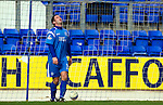 St Johnstone v Kilmarnock....02.04.11 .Peter MacDonald reacts to his header being saved.Picture by Graeme Hart..Copyright Perthshire Picture Agency.Tel: 01738 623350  Mobile: 07990 594431