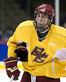 Kyle Kucharski (BC 18) - The Boston College Eagles practiced on Friday, April 11, 2008, at the Pepsi Center in Denver, Colorado, in preparation for the 2008 Frozen Four Final (NCAA D1 national hockey championship game) being played the following day.  Boston College had made the Final for the third year in a row.