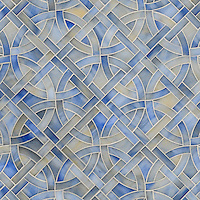 Poco Via, jewel glass mosaic shown in Chalcedony, is part of the Miraflores Collection by Paul Schatz for New Ravenna Mosaics.