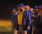 Oxford High coach Johnny Hill vs. West Point in high school playoff action in Oxford, Miss. on Friday, November 19, 2010. West Point won 27-12.
