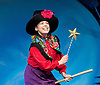 ROOM ON THE BROOM <br /> by JULIA DONALDSON and AXEL SCHEFFLER at the <br /> LYRIC THEATRE, SHAFTESBURY AVENUE, London, great Britain <br /> Press Photocall<br /> 27th November 2014 <br /> <br /> YVETTE CLUTTERBUCK as the Witch<br /> <br /> <br /> <br /> Photograph by Elliott Franks <br /> Image licensed to Elliott Franks Photography Services