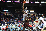"Ole Miss' Ladarius White (10) is called for charging vs. Arkansas Little Rock's Michael Javes (44) at the C.M. ""Tad"" Smith Coliseum in Oxford, Miss. on Friday, November 16, 2012. Ole Miss won 92-52."