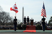 President Barack Obama and First Lady Michelle Obama welcome Prime Minister Justin Trudeau of Canada and Mrs. Sophie Gr&eacute;goire Trudeau Trudeau to the White House for an Official Visit March 10, 2016 in Washington,D.C. <br /> Credit: Olivier Douliery / Pool via CNP