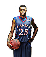 NCAA College Basketball: Brandon Rush of Kansas.portrait.Lawrence, KS.05-MAR-2008.X79757 TK1.CREDIT: Darren Carroll.