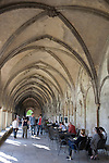 Cafe and Cloister of Salisbury Cathedral Church, England, UK