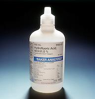HYDROFLUORIC ACID: WEAK ACID<br /> The Only Weak Hydrohalic Acid<br /> Of the hydrohalic acids, HF, HCl, HBr &amp; HI, hydrofluoric acid is the only weak acid.  A weak acid is only partially dissociated in solution.  A strong acid is 100% dissociated in solution.