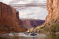 Approaching Navajo Bridge in marble canyon. Day one of a colorado river trip through Grand Canyon Naional Park.
