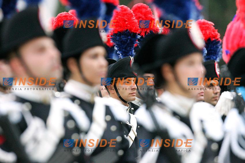 .Roma 06/06/2011 Cerimonia in Piazza di Siena in occasione del 197° anniversario dell'Arma dei Carabinieri, con il tradizionale carosello..Photo Samantha Zucchi Insidefoto