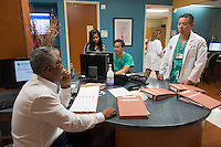 St. Mary's Medical Center. Robert Borrego, M.D., from left, unknown, Teofilo Lama, M.D., release 20120524001, Vincent Kan, class of 2014.