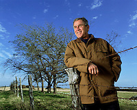 14 Dec 2000, Crawford, Texas, USA --- President George W. Bush awaits the results of the 2000 Presidential Election recount on his Texas ranch. --- Image by © Brooks Kraft/Sygma/Corbis