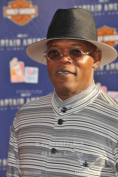 "Samuel L. Jackson at the premiere of his new movie ""Captain America: The First Avenger"" at the El Capitan Theatre, Hollywood..July 19, 2011  Los Angeles, CA.Picture: Paul Smith / Featureflash"