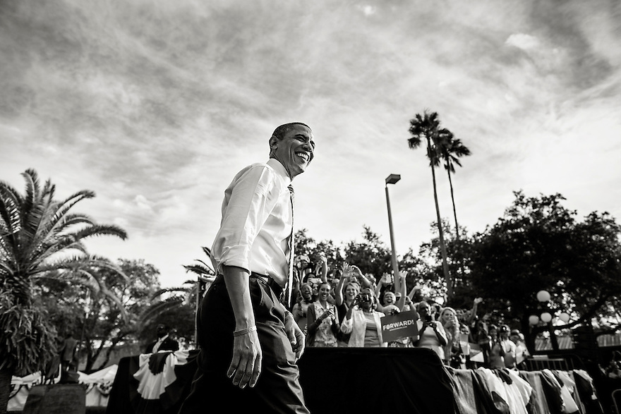 U.S. President Barack Obama attends a campaign rally in Tampa, Florida