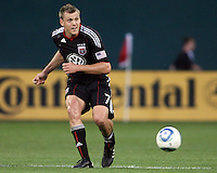 Adam Cristman #7 of D.C. United makes a pass during an MLS match against the Colorado Rapids on May 15 2010, at RFK Stadium in Washington D.C. Colorado won 1-0.