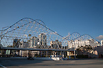 The Cyclone Pedestrian Bridge at the Pike at Rainbow Harbor in Long Beach, CA