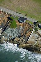aerial photograph coastal erosion, Sonoma County, California