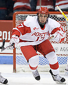 Matt Nieto (BU - 17) - The visiting University of Vermont Catamounts tied the Boston University Terriers 3-3 in the opening game of their weekend series at Agganis Arena in Boston, Massachusetts, on Friday, February 25, 2011.