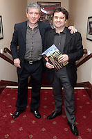 """NO REPRO FEE. 17/1/2010. The Field opening night. Billy Keane and Donal Shields are pictured at the Olympia Theatre for the opening night of John B Keanes 'The Field"""" Picture James Horan/Collins"""