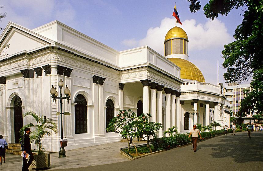 Venezuela, Caracas. The Congress Building. El Capitolio.