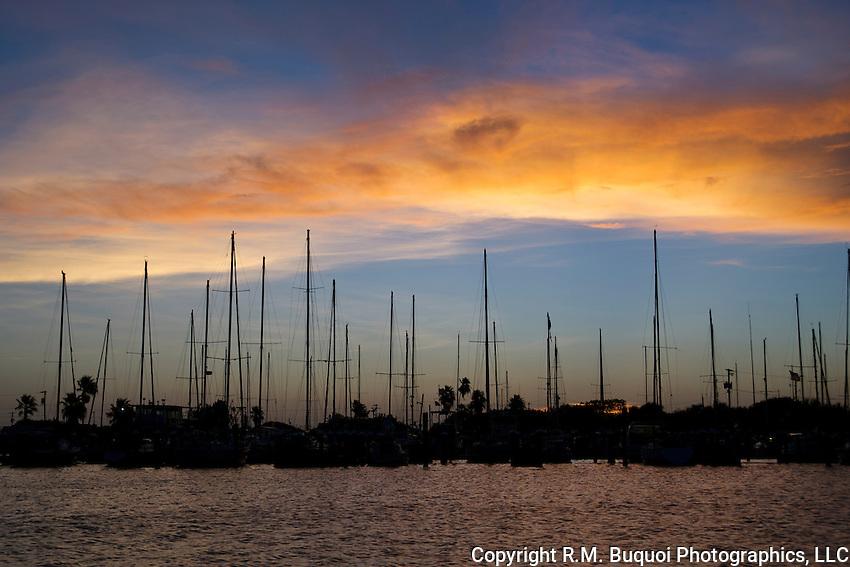 Rockport Sailboats at Sunset