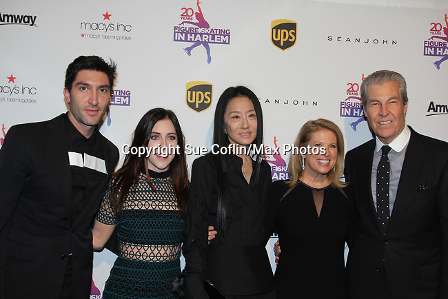 Evan Lysacek, Ashley Wagner, Vera Wang, Tina and Terry Lundgren - Figure Skating in Harlem celebrates 20 years - Champions in Life benefit Gala on May 2, 2017 in New York Ciry, New York.   (Photo by Sue Coflin/Max Photos)