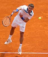 Juan Carlos FERRERO (ESP) against Rafael NADAL (ESP) in the Quarter Finals. Rafael Nadal beat Juan Carlos Ferrero 6-4 6-2..International Tennis - 2010 ATP World Tour - Masters 1000 - Monte-Carlo Rolex Masters - Monte-Carlo Country Club - Alpes-Maritimes - France..© AMN Images, Barry House, 20-22 Worple Road, London, SW19 4DH.Tel -  + 44 20 8947 0100.Fax - + 44 20 8947 0117