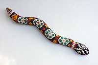 Huichol Indian beaded snake from Mexico
