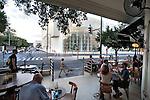 ISRAEL Tel Aviv<br /> People at 'Nachama Vahetzi' cafe.
