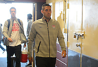 San Francisco, CA., - Tuesday, May 27, 2014: US Men's National team arrival at Candlestick Park.