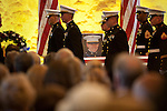 Fellow marines attend an Aug. 8  memorial service for First Lt. Todd Allen Lorell, 24, of Los Altos.<br />